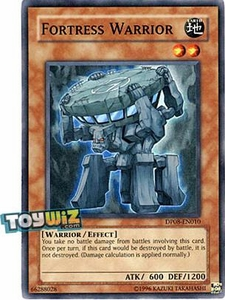 YuGiOh 5D's Duelist Pack Yusei Fudo Single Card Super Rare DP08-EN010 Fortress Warrior