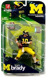 McFarlane Toys NCAA COLLEGE Football Sports Picks Series 1 Action Figure Tom Brady (Michigan Wolverines)