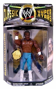 WWE Wrestling Classic Superstars Series 20 Action Figure Ron Simmons [WCW Championship Belt]