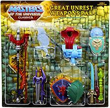 He-Man Masters of the Universe Classics Exclusive Weapons Pak Great Unrest