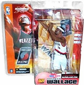 McFarlane Toys NBA Sports Picks Series 3 Action Figure Rasheed  Wallace (Portland Trailblazer) White Jersey Variant