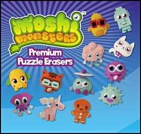 Topps Moshi Monsters Puzzle Eraser Box [24 Packs]