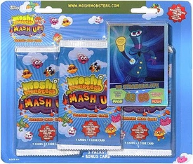 Topps Moshi Monsters Mash Up! Trading Card Game 3-Pack & Bonus Card