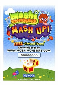 Topps Moshi Monsters Mash Up! Code Card [Gives You 1 Virtual Item!]
