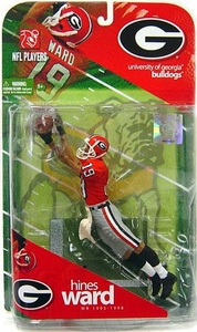 McFarlane Toys NCAA COLLEGE Football Sports Picks Series 1 Action Figure Hines Ward (Georgia Bulldogs) Orange Jersey