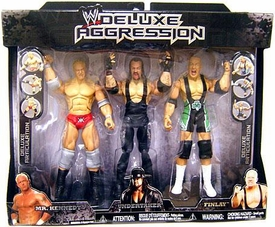 WWE Jakks Pacific Wrestling Exclusive DELUXE Aggression Action Figure 3-Pack Undertaker, Mr. Kennedy & Finlay