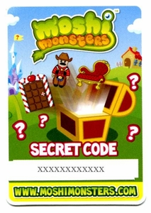 Topps Moshi Monsters Secret Code [Gives You 1 In-Game Item!]