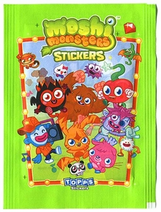 Topps Moshi Monsters Series 1 Stickers Pack [6 Stickers]