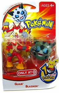 Pokemon Mini Action Figure Set Fire Type vs. Ice Type Pack with Glalie & Blaziken