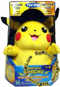 Pokemon Toy Electronic Pikachu Figure with Thundershock Attack Classic Toy!