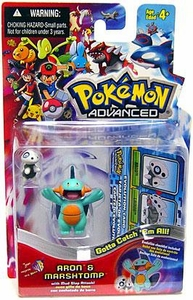 Pokemon Advanced Generation Mini Figure Set Aron vs. Marshtomp