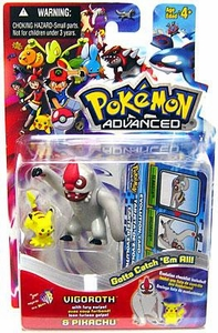 Pokemon Advanced Generation Mini Figure Set Vigorith & Pikachu
