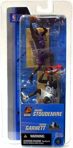 McFarlane Toys NBA 3 Inch Sports Picks Series 2 Mini Figures 2-Pack Amare Stoudemire (Phoenix Suns) & Kevin Garnett (Minnesota Timberwolves)