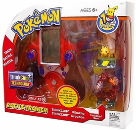 Pokemon THINKchip Exclusive Battle Trainer with Pikachu & Groudon Figures