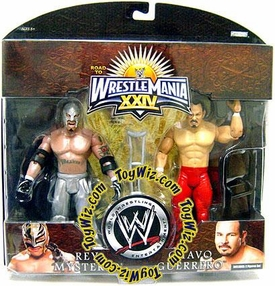 WWE Wrestlemania 24 Exclusive Series 1 Action Figure 2-Pack Rey Mysterio & Chavo Guerrero BLOWOUT SALE!