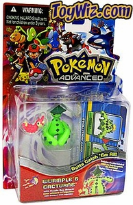 Pokemon Advanced Generation Mini Figure Set Wurmple vs. Cacturn