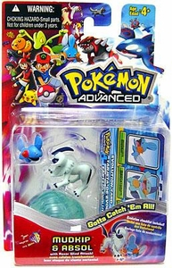 Pokemon Advanced Generation Mini Figure Set Mudkip vs. Absol