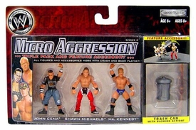 WWE Wrestling Micro Aggression Series 9 Figure 3-Pack Shawn Michaels, Mr. Kennedy & John Cena