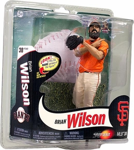 McFarlane Toys MLB Sports Picks Series 30 Action Figure Brian Wilson (San Francisco Giants) Orange Jersey Gold Collector Level Chase Only 415 Made!