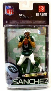 McFarlane Toys NFL Sports Picks Series 23 Action Figure Mark Sanchez (New York Jets) Green Jersey & White Pants