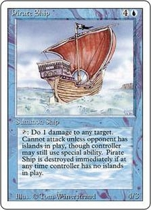 Magic the Gathering Revised Edition Single Card Rare Pirate Ship