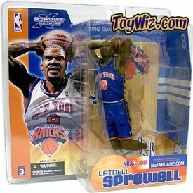 McFarlane Toys NBA Sports Picks Series 3 Action Figure Latrell Sprewell (New York Knicks) Blue Jersey Variant