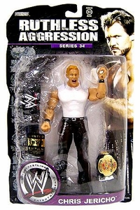 WWE Wrestling Ruthless Aggression Series 34 Action Figure Chris Jericho [Limited Edition 1 of 500]