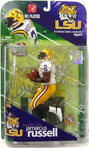 McFarlane Toys NCAA COLLEGE Football Sports Picks Series 1 Action Figure JaMarcus Russell (Louisiana State Tigers) White Jersey
