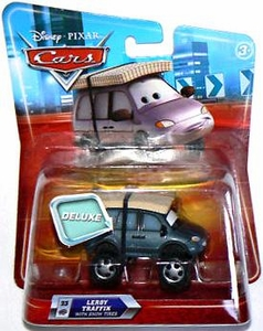 Disney / Pixar CARS Movie 1:55 Die Cast Car Oversized Vehicle Leroy Traffik with Snow Tires