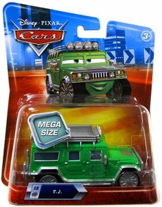 Disney / Pixar CARS Movie 1:55 Die Cast Car Oversized Vehicle TJ [Green Hummer]