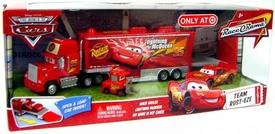 Disney / Pixar CARS Movie 1:55 Die Cast Cars Exclusive Set Team Rust-Eze [Mack Hauler, Lightning McQueen & My Name is Not Chuck]
