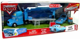 Disney / Pixar CARS Movie 1:55 Die Cast Cars Exclusive Set Team Dinoco [King's Gray Hauler, King & Pitty]