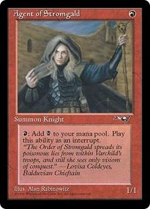 Magic the Gathering Alliances Single Card Common Agent of Stromgald [Random Artwork]