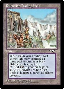 Magic the Gathering Alliances Single Card Rare Balduvian Trading Post