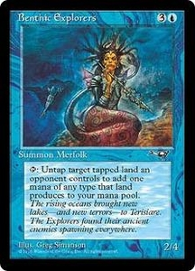 Magic the Gathering Alliances Single Card Common Benthic Explorers [Random Artwork]