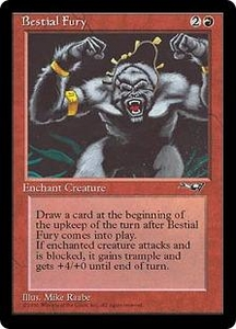 Magic the Gathering Alliances Single Card Common Bestial Fury [Random Artwork]