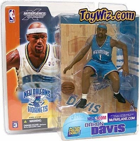 McFarlane Toys NBA Sports Picks Series 3 Action Figure Baron Davis (New Orleans Hornets) Turquoise Jersey Variant