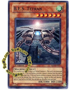 YuGiOh Elemental Energy Super Rare Single Card EEN-EN017 B.E.S. Tetran