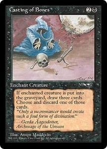 Magic the Gathering Alliances Single Card Common Casting of Bones [Random Artwork]