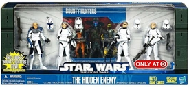 Star Wars 2010 Exclusive Action Figure 4-Pack Battle Pack Hidden Enemy [Captain Rex, Sgt. Slick, Clone Troopers Chopper & Gus]