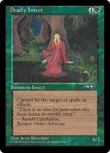 Magic the Gathering Alliances Single Card Common Deadly Insect [Random Artwork]