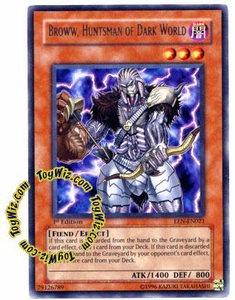 YuGiOh Elemental Energy Rare Single Card EEN-EN021 Broww, Huntsman of Dark World