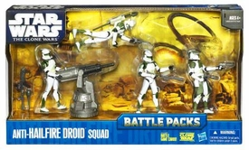 Star Wars 2010 Clone Wars Animated Battle Pack Anti-Hailfire Droid Squad