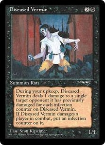 Magic the Gathering Alliances Single Card Uncommon Diseased Vermin