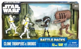 Star Wars 2010 Clone Wars Animated Battle Pack Clone Troopers & Droids