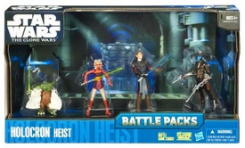 Star Wars 2010 Clone Wars Animated Battle Pack Holocron Heist [Ahsoka Tano, Anakin Skywalker, Yoda & Cad Bane]