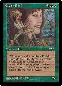 Magic the Gathering Alliances Single Card Uncommon Elvish Bard