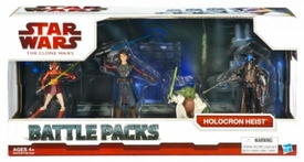 Star Wars 2009 Clone Wars Animated Battle Pack Holocron Heist [Ahsoka Tano, Anakin Skywalker, Yoda & Cad Bane]