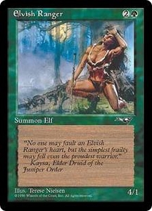 Magic the Gathering Alliances Single Card Common Elvish Ranger [Random Artwork]