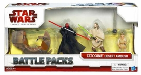 Star Wars 2009 Clone Wars Animated Battle Pack Tatooine Desert Ambush [Sith Speeder, Darth Maul, Qui-Gon Jinn & Young Anakin]